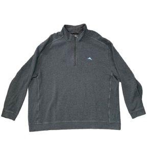 Tommy Bahama Gray 1/4 Zip Pullover 3XB